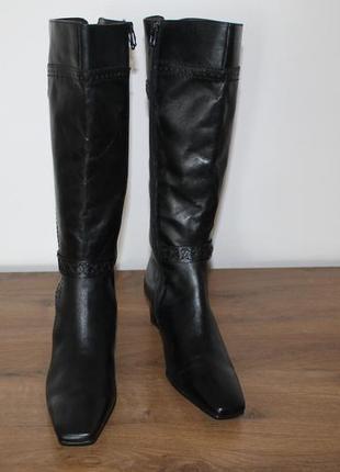 Кожаные сапоги caprice, 37 размер