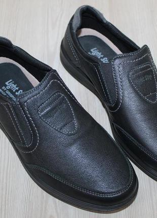 Кожаные полуботинки grisport light step италия, 39 размер