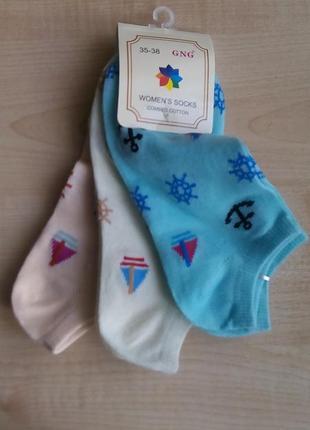 Поделиться:  набор из 3-ох пар женских носков коротких gng