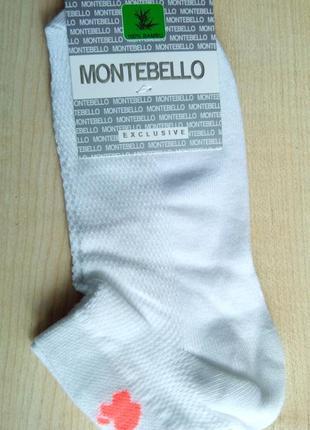 Носки женские montebello монтебелло белые сеточка apple турция