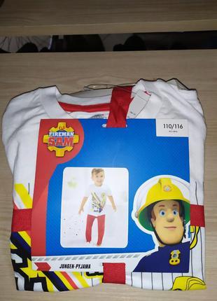 Детская пижама fireman sam, германия