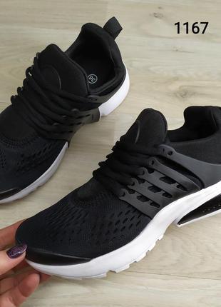 Подростковые кроссовки текстильные, унисекс, черные в стиле ni...