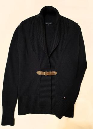 Tommy hilfiger кардиган кофта свитер на запах шерсть хлопок xs...