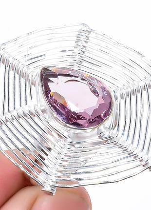 Кольцо аметист, стерлинговое серебро 925