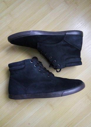 Ботинки мужские clarks нубук темно-синие