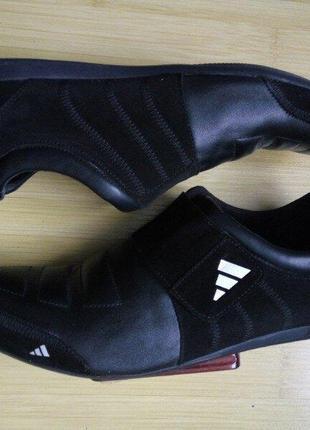 Спортивные туфли, кроссовки, кеды мужские черные на липучке