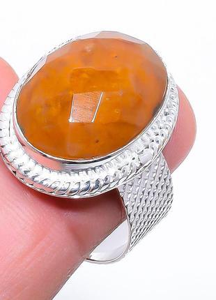 Кольцо авантюрин, стерлинговое серебро 925