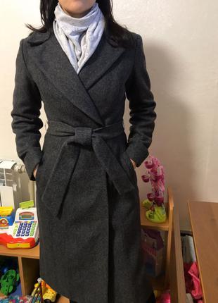 Пальто демисезонное классическое на запах h&m