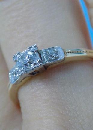 Кольцо из золота 585 пробы с бриллиантами. Экспертиза геммолога