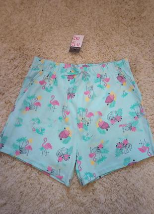 Хлопковые шорты с фламинго primark