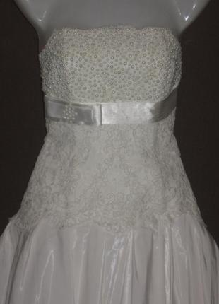 Свадебное платье. шикарное. перламутровое, переливается. 42-46...