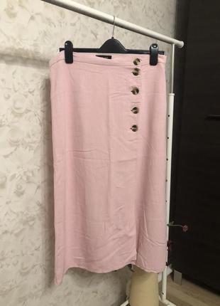 Миди юбка на запах на пуговицах new look!