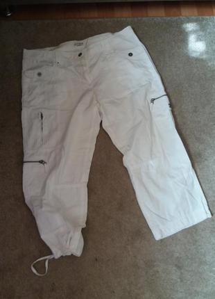 Натуральные брюки котон на 52 54р  lisa fossa 44r