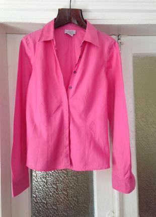 Рубашка котоновая розовая в полоску