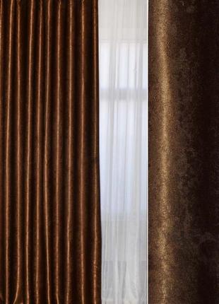Комплект готовых штор из ткани софт/блэкаут