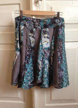 Пышная легкая юбка миди moonsoon