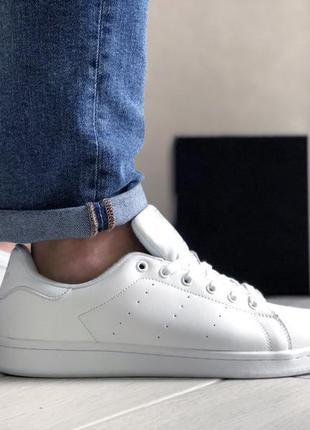 Adidas stan smith white мужские кросовки адидас стен смит белые