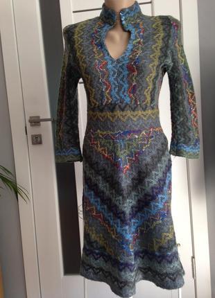 Тёплое платье в стиле этно