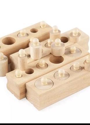 Цилиндры гирьки Монтессори , деревянные блоки.Паевская рекомен...