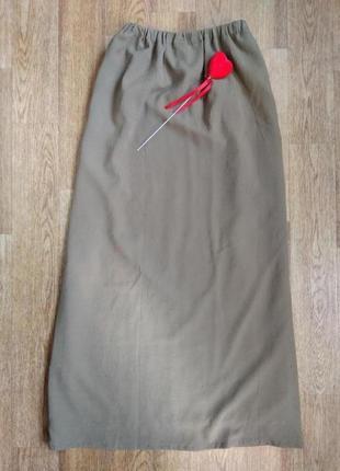 Длинная юбка, классическая юбка, юбка в пол 48/50