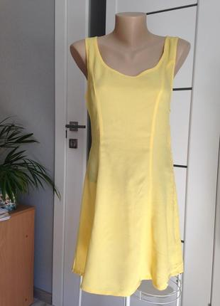 Воздушное летнее платье 100% вискоза h&m. нюанс