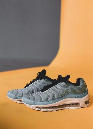 Nike 95 стильные женские кроссовки найк в синем цвете (весна-л...