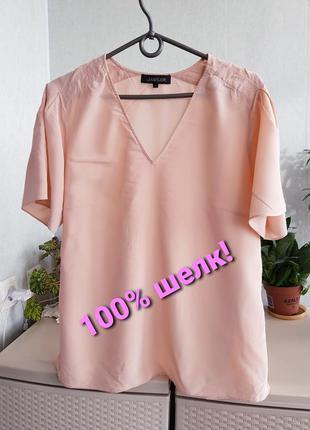Шелковая блуза цвета пудры шелковый топ натуральный шелк