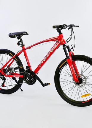 Спортивный велосипед 24 дюйма Free Ride рама 13, красный