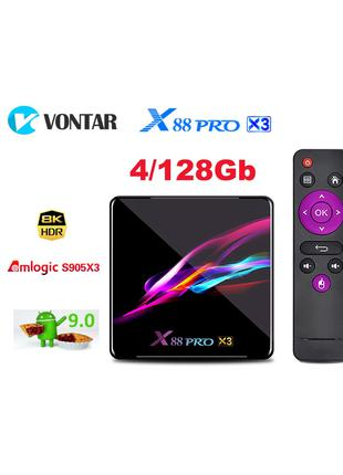 X88PRO X3 4/128GB Amlogic S905X3 смарт тв приставка tv box HK1H96
