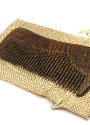 Гребень для бороды сандаловое дерево 2298-100