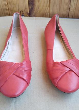 Удобные полностью кожаные туфли лодочки английские балетки pavers