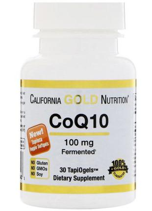 CoQ10, 100 мг, 30 табл. California Gold Nutrition,