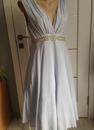 Пышное вечернее выпускное платье с расшивкой бисером tfnc london