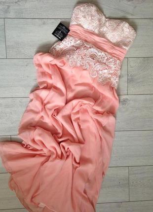 Вечернее платье макси с кружевом для беременной