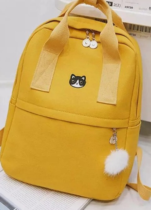 Яркий текстильный молодёжный тканевый рюкзак 🎒