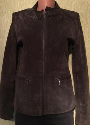 Куртка натуральный замш шоколадного цвета papaya размер 10