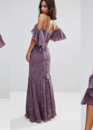 Вечернее выпускное платье макси в паетках