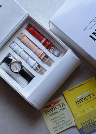 Швейцарские часы с бриллиантами invikta с набором ремешков