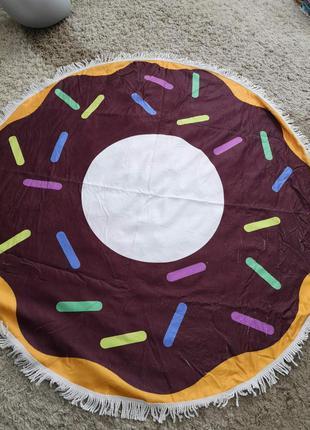 """Пляжный коврик подстилка полотенце покрывала """"пончик"""""""
