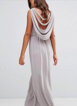 Роскошное вечернее выпускное платье макси