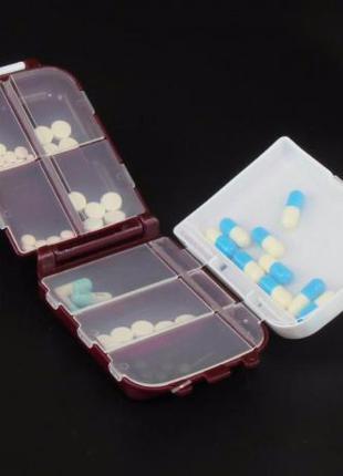Практичная таблетница с 8-ю отдельными ячейками Folca