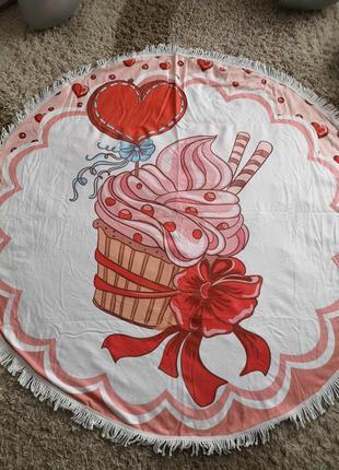 """Пляжный коврик подстилка полотенце покрывала """"кекс"""""""