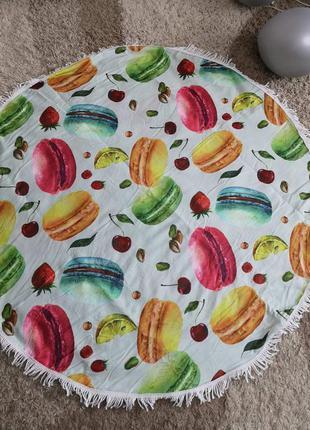 """Пляжный коврик подстилка полотенце покрывала """" кексы"""""""