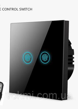 Сенсорный выключатель двойной с пультом дистанционного управления