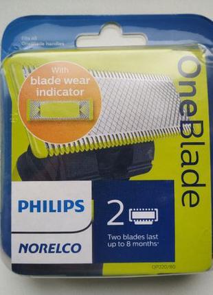 Упаковка Лезвий Philips Oneblade 2шт. с индикатором