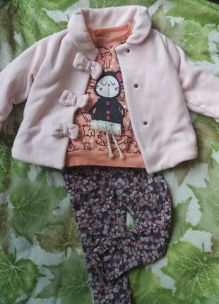Флисовая курточка ветровка пиджак на 3-5 лет