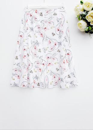Натуральная юбка миди летняя юбка с натуральной ткани