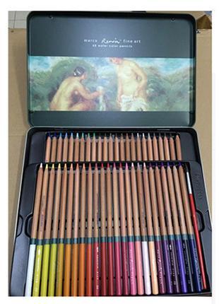 Карандаши цветные акварельные на 48 цветов + кисточка