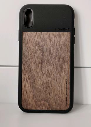 Moment case защитный кожаный чехол Iphone XR