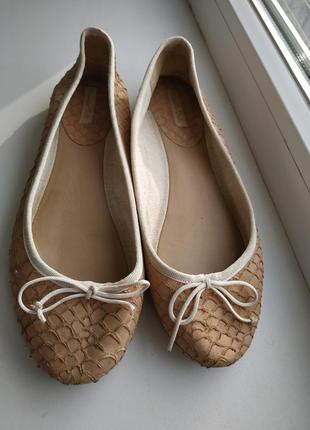 Massimo dutti балетки туфли кожаные
